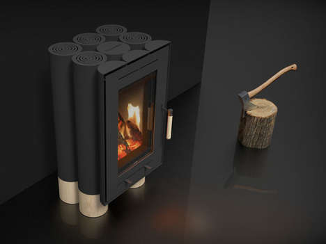 Log-Inspired Wood Stoves - The 'Tek Lumber' House Wood Stove Draws Inspiration from Nature