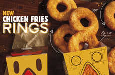 Ring-Shaped Chicken Fries - The Chicken Fries Rings Provide a New Way to Enjoy Fried Chicken