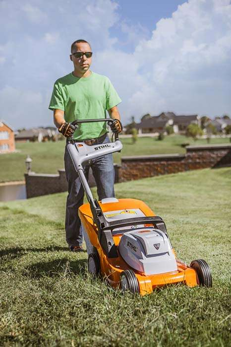 Commercial-Grade Wireless Mowers - The Stihl RMA 410 Battery-Powered Lawn Mower Cuts with Efficiency