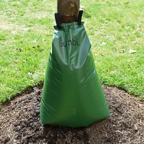 Tree-Hugging Watering Bags - The 'Jumbl' Tree Watering Bag Slowly Releases H2O to Trees
