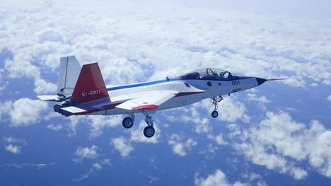 Stealth Fighter Aircraft - The Japanese X-2 Aircraft Has a Range Of Nearly 3,000 Kilometers