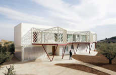 Geometric Balconies - Casa Doble by Langarita-Navarro Boasts a Unique Extension Around It