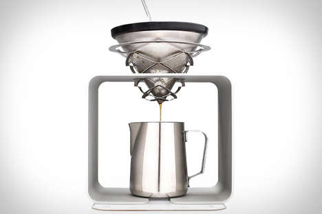 Scientific Coffee Brewers - The Science Coffee Pour Over Stand Boasts a Futuristic Design