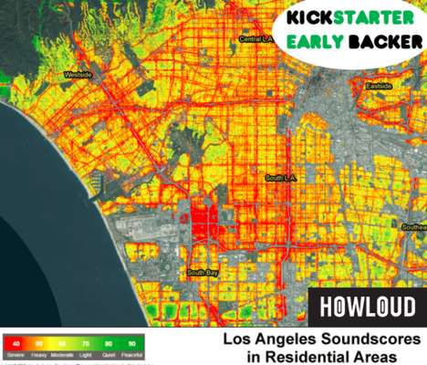Urban Noise-Scoring Platforms - 'HowLoud' Calculates the Loudness Factor for Different Neighborhoods