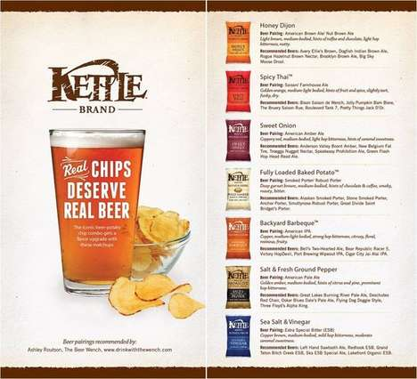 Chip Pairing Charts - This Snack Food Guide Suggests Beer Types to Serve with Kettle Brand Chips
