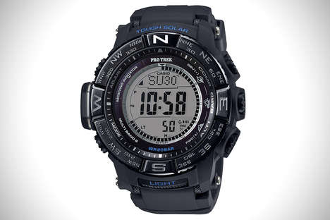 Twisting Outdoor Timepieces - The Casio Pro Trek Adventure is Designed for Day and Nighttime Use