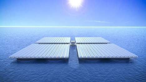 Floating Solar Panels - The Heliofloat System Allows Solar Panels to Withstand Heavy Seas