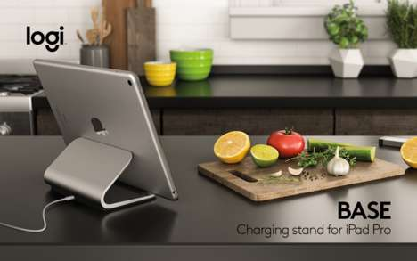Connectionless Tablet Charging Docks - The 'Logi BASE' iPad Dock Uses the Apple Smart Connector