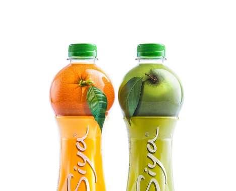 Fruit-Topped Juice Bottles