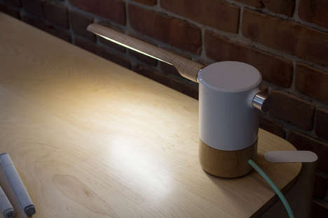 Contemporary Cantilevered Lights - The 'HYDRANT' Desk Light Provides Focused Illumination