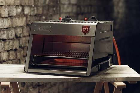 Speedy Cooking Kitchen Grills - The Otto Over-Fired Broiler Preheats in Just Three Minutes