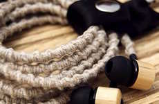 Bamboo Hemp Earbuds - The Jamboo Hemp In-Ear Buds are Crafted from Real Natural Materials