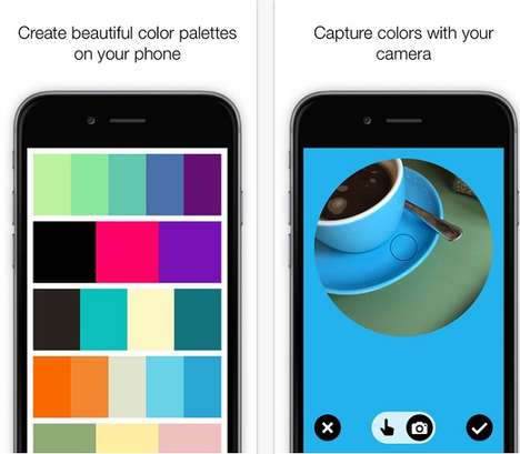 Surrounding Color-Capturing Apps - The Colordot Pulls Palette Shades From the User's Environment