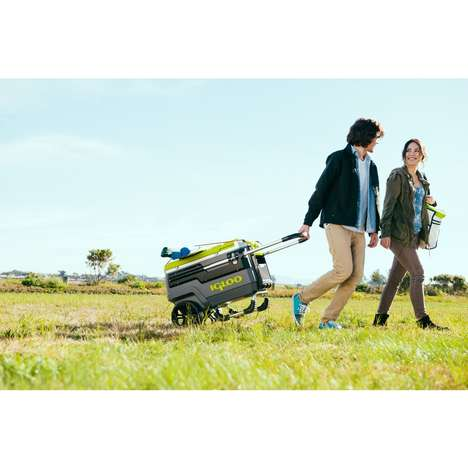 Rugged Camping Coolers - The Igloo Trailmate is an All-Terrain Wheeled Cooler Ready for Long Hauls