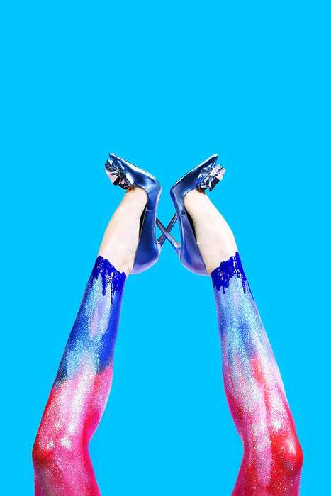 Chromatic Shoe Photography - Tamara Hansen's 'Shoes, Shoes, Shoes' Editorial is Visually Vivid