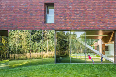 Transparent Summer Abodes - This House Recreates the Summer Season Year-Long With Faux Grass