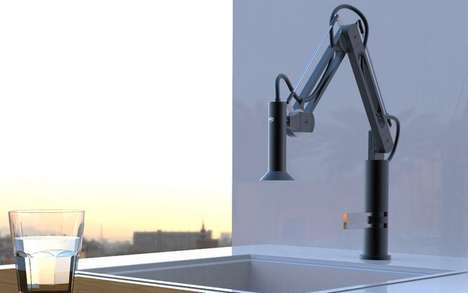 Lamp-Inspired Faucets - The 'Switch' by Bongio Kitchen Faucet Looks and Operates Like a Light