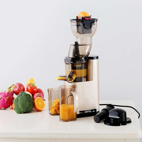 Nutrient-Preserving Juicers - The SAVTM Anti-Oxidative Electric Juicer Slowly Masticates Produce