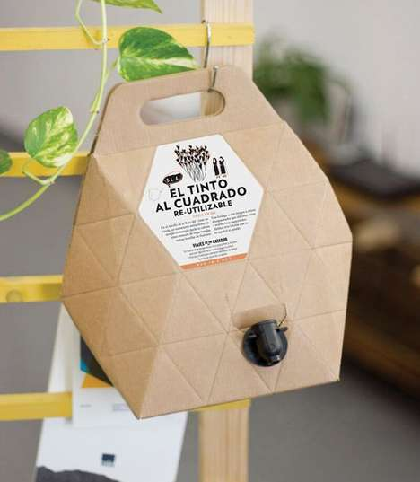 Multifunctional Wine Boxes - The Viajes de un Catador Box Wine Packaging is for Storage and Serving