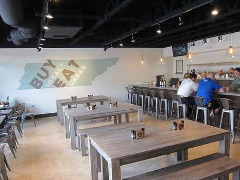 Contemporary Southern Cookhouses - Urban Cookhouse Encourages Diners to 'Buy Local, Eat Urban'