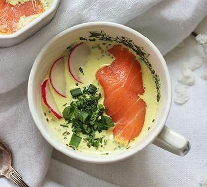 Fishy Chia Puddings - This Coconut Chia Pudding with Smoked Salmon is a Savory Take on the Superfood