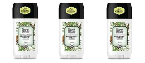 Organic Deodorant Creams - The Nourish Organic Deodorant Reduces Wetness and Odor Without Chemicals