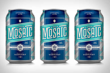 Modern Bluesy Cans - The A Pale Mosaic Beer Looks as Crisp and Clean as It Tastes