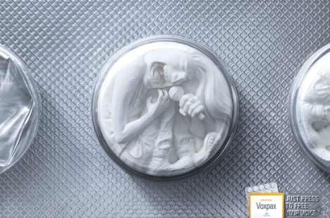 Screaming Pill Ads - The Lehning Voxpax Campaign Promotes Loss of Voice Medication