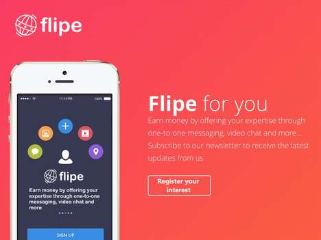 Messaging Services Schemes - Flipe Wants to Help the Messaging Expert Earn Money for Their Skills