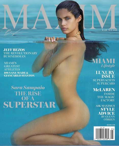Skin-Baring Boat Editorials - The Sara Sampaio Maxim Magazine Shoot is Tastefully Seductive