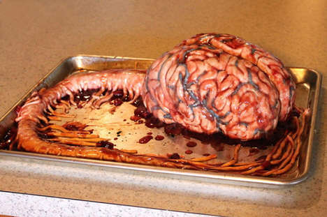 Gruesome Anatomical Cakes - These Realistic Cakes Showcase Edible Body Parts Covered in Blood
