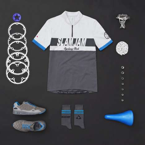 Haute Cycling Gear - The Le Coq Sportif Capsule Collection Offers High Fashion Riding Attire