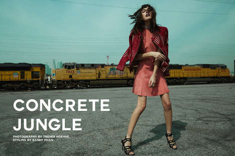 Feminine City Fashion - Concrete Jungle by Trever Hoehne Stars Margaux Brooke