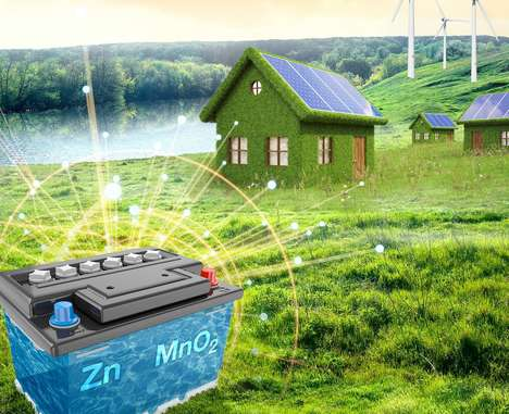 Solar Energy-Storing Batteries - New Zinc-Manganese Power Units Hold Energy from Renewable Sources