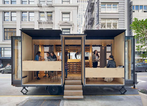 Mobile eCommerce Fitting Rooms - The True & Co. Mobile Retail Store Brings the Online Store to Life
