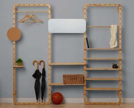 Customizable Wood Storage Frames