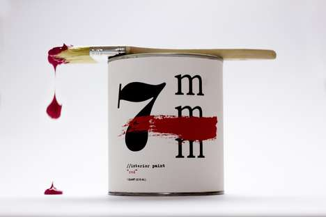 Fashionable Paint Can Branding - Jesper Forsberg Landin Imagines Maison Martin Margiela Paint