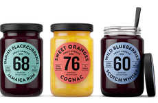 Danish Selection Fruit Spread Jars Feature the Percentage of Real Fruit