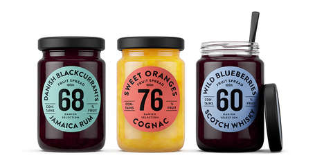 Number-Based Packaging - Danish Selection Fruit Spread Jars Feature the Percentage of Real Fruit