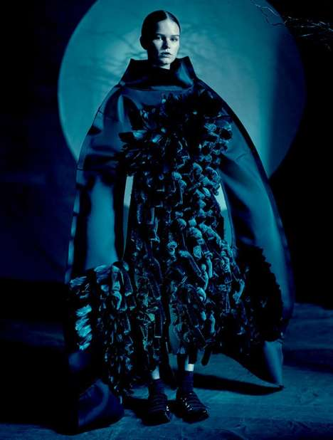 Gothic Couture Editorials - Dazed & Confused's Comme des Garcons Style Feature is Empowering