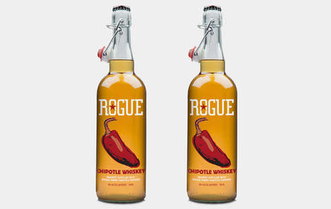 Piquant Pepper Whiskeys - The Rogue Chipotle Whiskey Flavor is Infused With Spicy Jalapenos