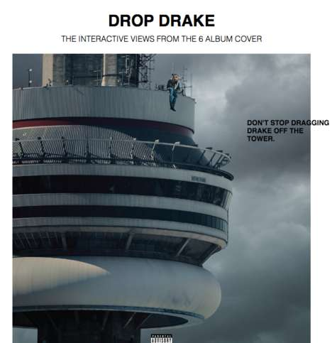 Satrical Rap Album Games - The DropDrake Site Parodies Drakes' Album 'Views from the 6'