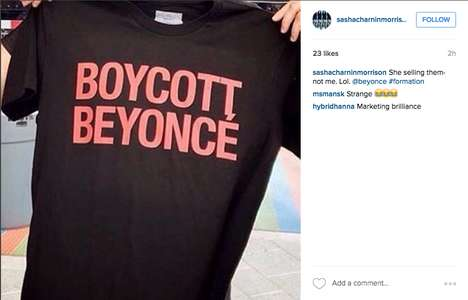 Hater-Referencing Tour Tees - The Beyoncé Formation Tour Merchandise Calls Out Her Nay-Sayers