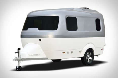 Sleek Two-Tone Campers - The Airstream 'Nest' Fiberglass and Aluminum Trailer is Lightweight