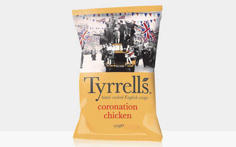 Monarch-Honoring Chip Flavors - Tyrrell's New Coronation Chicken Flavor Honors Queen Elizabeth II