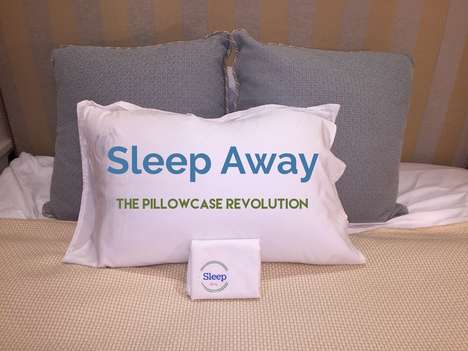 Bacteria-Resistant Pillow Cases - The 'Sleep Away' Travel Pillow Case Prevents Acne and Hair Loss