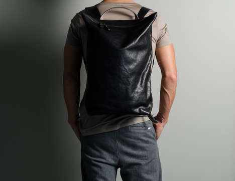 Weight-Balancing Backpacks - The Hard Graft Outsider Leather Knapsack Prevents Back Pain