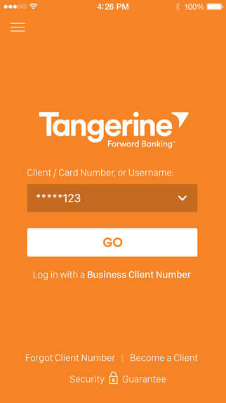 Biometric Banking Apps - Tangerine's Mobile Banking App Allows Launch Eye and Voice Verification