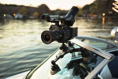 Suctioning DSLR Camera Mounts - The 'CineSquid' Suction Cup Camera Mount Secures Equipment in Place