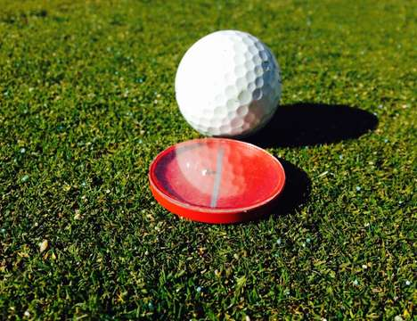 Level-Detecting Golf Markers - The 'TruSlope' Ball Marker Helps Identify the Slope of the Green